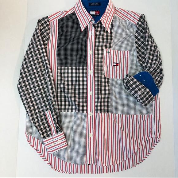 d3287f51 Tommy Hilfiger Tops | Tommy Patchwork Oxford Shirt | Poshmark